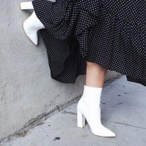 RAYE Parker Bootie in Patent White